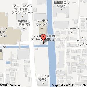 スズキ自販島根 アリーナ松江北の地図