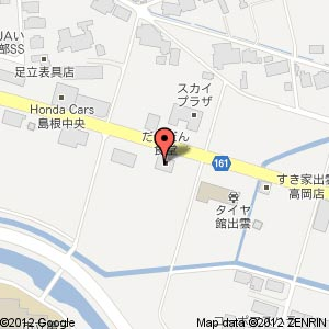 ラーメン・つけ麺 笑福 出雲店 移転の地図