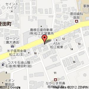 松江麺食堂 昭和軒の地図
