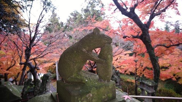 田原神社(春日神社)の石灯籠 子(ねずみ)