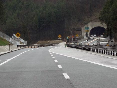尾道松江線 松江自動車道 上り線 10キロポスト付近追越区間
