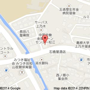 玉井歯科商店 松江店の地図