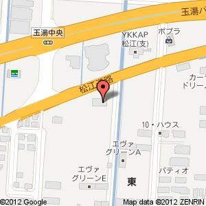 コインランドリー玉湯店の地図
