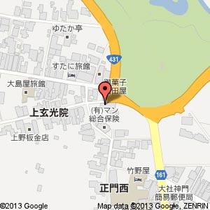 そば処 田中屋の地図