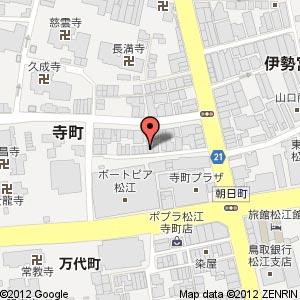 炭火焼き寺町の山芳の地図