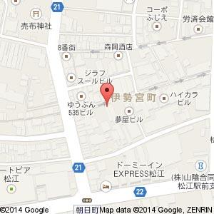 やきとり ときや 松江店の地図