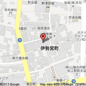 松江 巴庵の地図