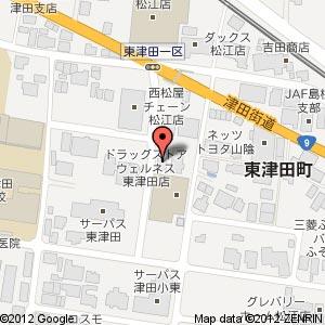 とりでん東津田店の地図