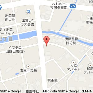 トヨタレンタカー 出雲駅南店の地図