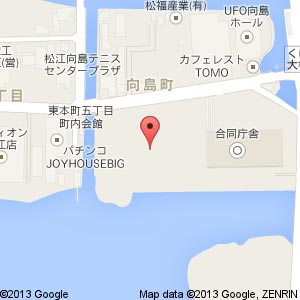 山陰中央テレビ新社屋の地図