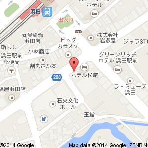 三代目網元 魚鮮水産 浜田店の地図
