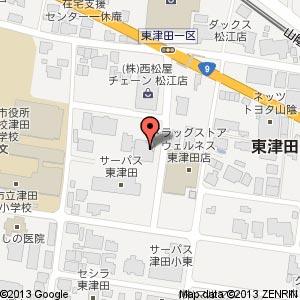 ロールケーキのうずまき屋 東津田店?の地図