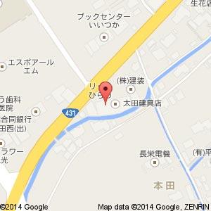 美容室 VAST 平田店の地図