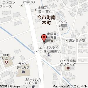 ベジカフェ ガーネットの地図