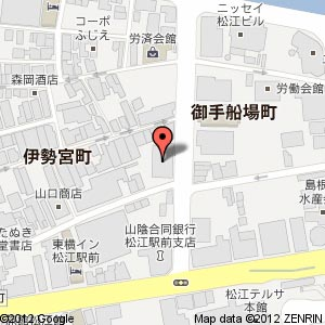 和民 松江北口駅前店の地図