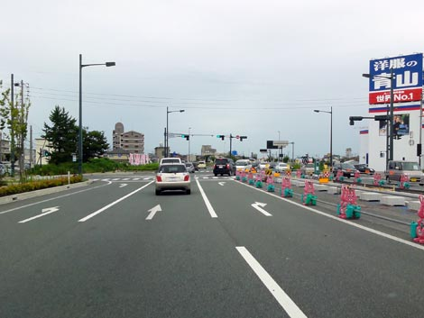 出雲バイパス 渡橋北交差点改良工事