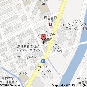 コインランドリー ホワイト急便西川津店の地図