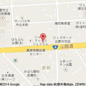 ワークマン 出雲店の地図