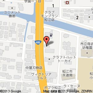 ワークマン 松江店の地図