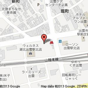 大阪新世界 山ちゃん 出雲店の地図