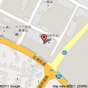 (仮称)テックランド益田店の地図