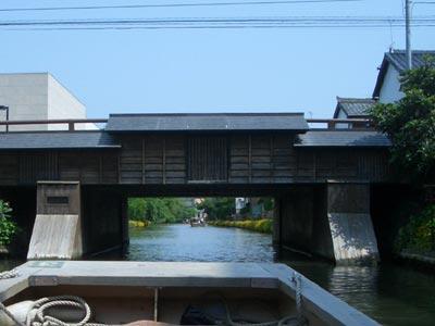 堀川に架かる米子橋