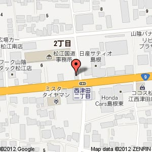吉野家 9号線松江店の地図