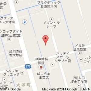 ゆめタウン出雲敷地内に別の大規模小売店舗?の地図