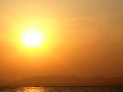 宍道湖の夕日1