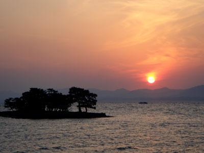 宍道湖の夕日2