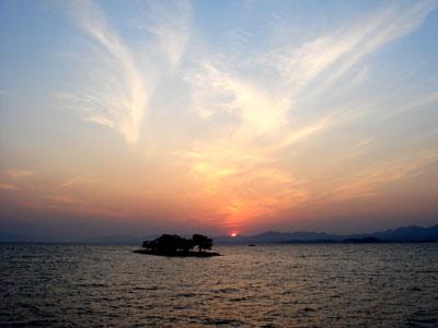 宍道湖の夕日3