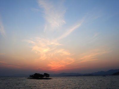 宍道湖の夕日4