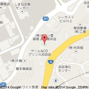 ザグザグ 浜田原井店の地図