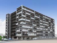 【松江】「松江センターボウル」跡地に建設中のサ高住200戸&老健105床・9F建ての大規模高齢者施設『松江センターアゼリア』