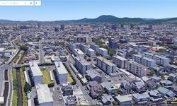 出雲市街がGoogleマップの3D表示「Earthビュー」対応エリアに