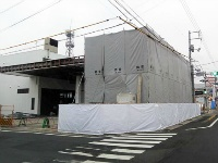 西津田で解体中のガソリンスタンド2か所
