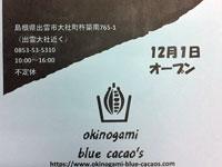 出雲チョコレート工場 okinogami blue cacao's(沖野上ブルーカカオ)