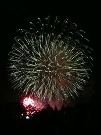 れんげ祭り花火