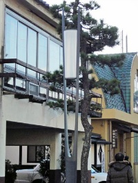 神門通りのデザイン照明