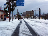 松江は大雪の元旦