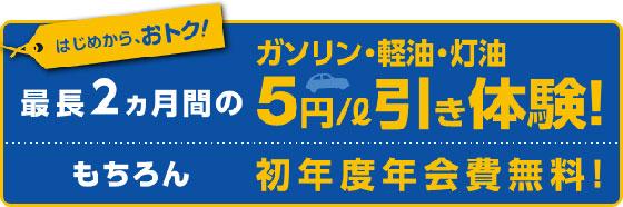 キグナス オブリカードα入会月5円引き