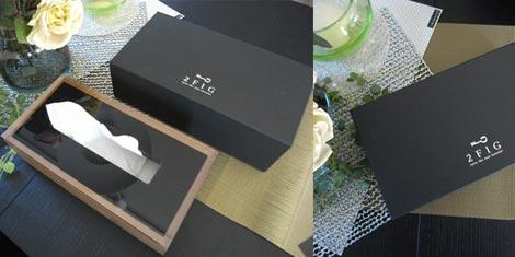 アクリル+ウッド エレガントなティッシュケース 2FIG(トゥーエフアイジー) Dix/W tissuebox(ディスダブリューティッシュボックス)