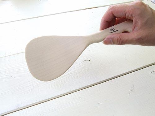 いちょうの木を使用した軽くて持ちやすいしゃもじ 4U rice scoope