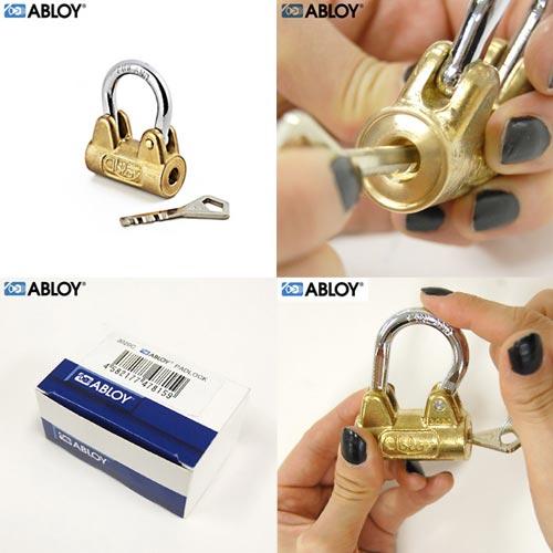 馬蹄形のシャクルと真鍮ボディのカラーが個性的な南京錠 Abloy(アブロイ)Padlocks S(パドロックS)