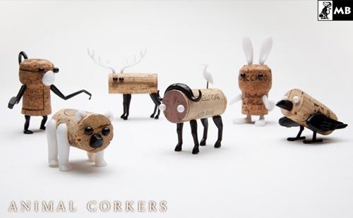 捨てられないワインのコルクをアニマルに animal corkers(アニマルコルカー)