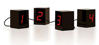 Black LED Clock