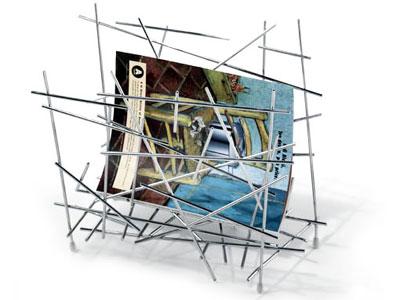 ALESSI Blow up Magazine Holder