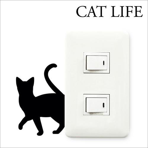 スイッチプレート周りにカワイイ猫を CAT LIFE
