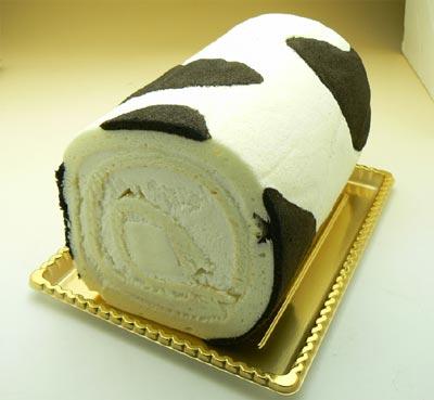 牛柄ミルクロール