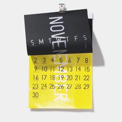 めくってとめるが楽しい立体的なカレンダー D-BROS ROLL12 2014